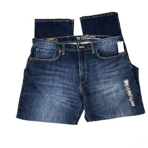 GAP Jeans 36 32 Straight Stretch Dark Indigo NEW